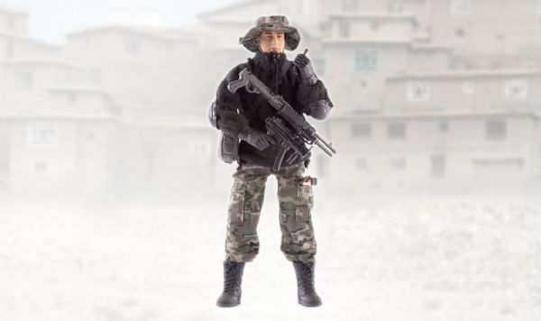 World Peacekeepers Navy Seal Tunnel Hunter 12in Poseable Army Action Toy Figure